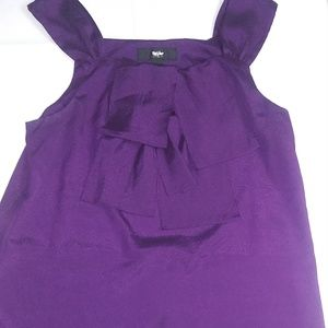 Mossimo Women's Plum Uneven Blouse XS NWOT